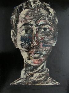 John Woodcock original self portrait