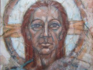 Original painting of Jesus or a saint