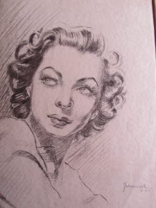 40's Portrait Drawing