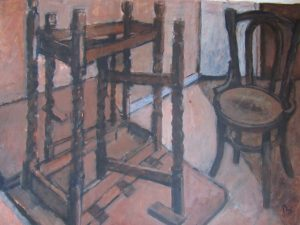 painting of furniture table chair