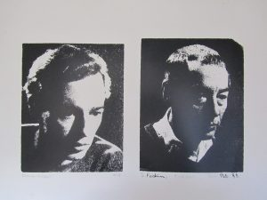 John Woodcock in 1948 and in 1988 Coventry University fine art