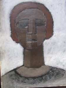 painting of early head primitive art