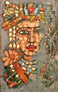 Mini mosaic portrait of aztec king